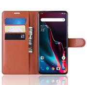OPPRO OnePlus 7 Pro Wallet Flip Case Braun