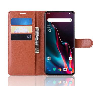 OPPRO OnePlus 7 Pro Wallet Flip Case Brown