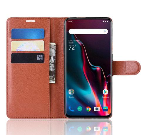 OPPRO OnePlus 7 Pro Hoesje Wallet Flip Case Bruin