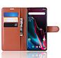 OnePlus 7 Pro Wallet Flip Case Braun