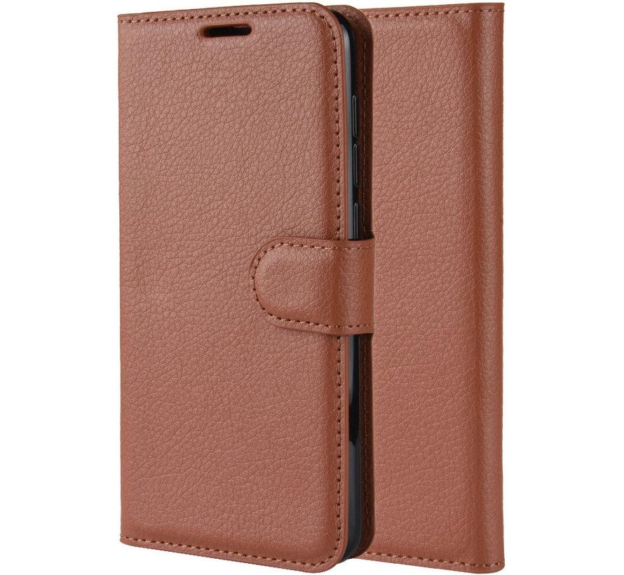 OnePlus 7 Pro Hoesje Wallet Flip Case Bruin