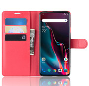 OPPRO OnePlus 7 Pro Hoesje Wallet Flip Case Rood