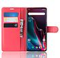 OnePlus 7 Pro Hoesje Wallet Flip Case Rood