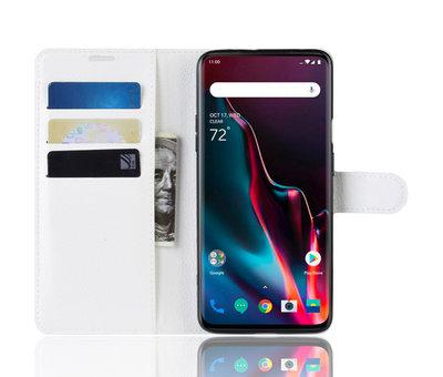 OPPRO OnePlus 7 Pro Wallet Flip Case Weiß