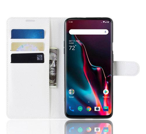 OPPRO OnePlus 7 Pro Hoesje Wallet Flip Case Wit
