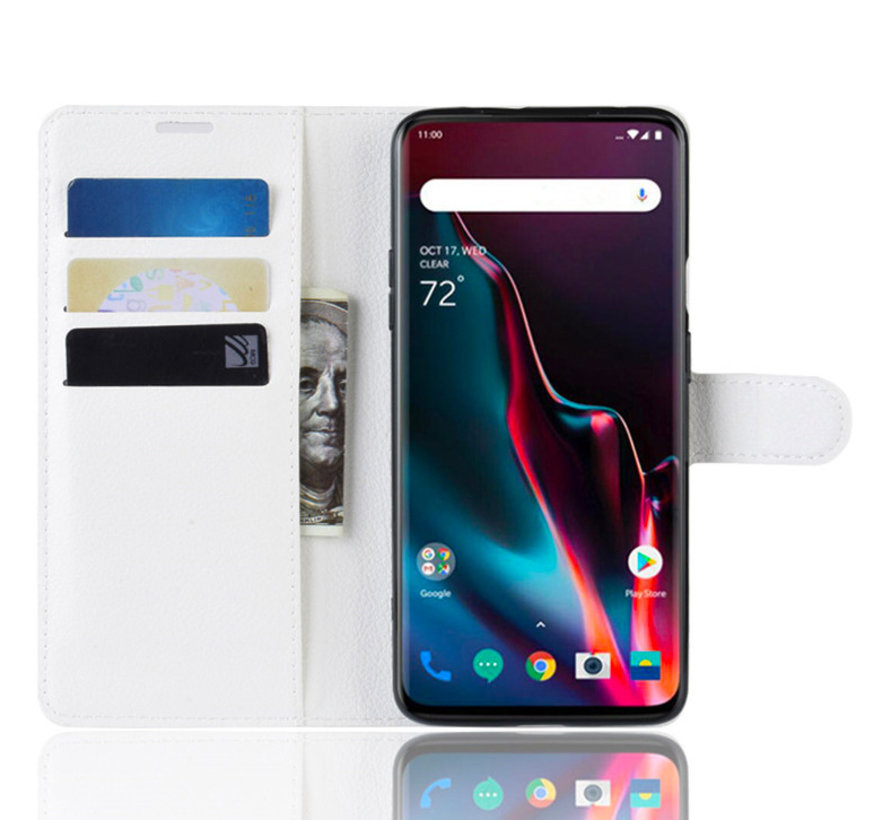 OnePlus 7 Pro Wallet Flip Case Weiß