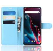 OPPRO OnePlus 7 Pro Hoesje Wallet Flip Case Blauw