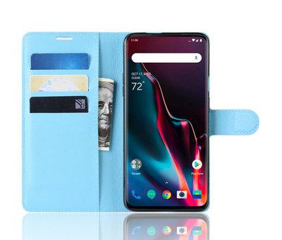 OPPRO OnePlus 7 Pro Brieftasche Flip Case Blau