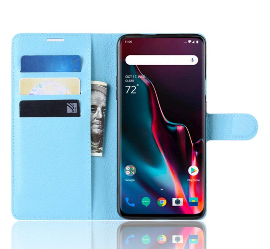 OnePlus 7 Pro Brieftasche Flip Case Blau