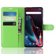 OPPRO OnePlus 7 Pro Brieftasche Flip Case Grün