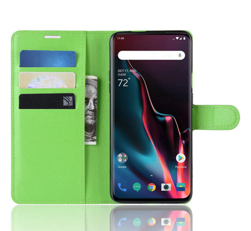 OPPRO OnePlus 7 Pro Wallet Flip Case Green