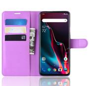 OPPRO OnePlus 7 Pro Hoesje Wallet Flip Case Paars