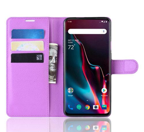 OPPRO OnePlus 7 Pro Wallet Flip Case Purple