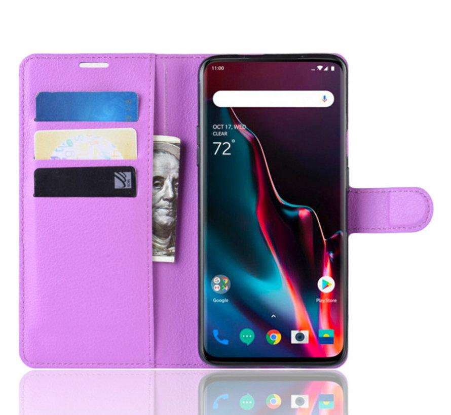 OnePlus 7 Pro Wallet Flip Case Purple