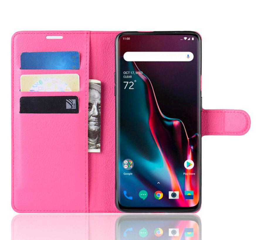 OnePlus 7 Pro Hoesje Wallet Flip Case Roze