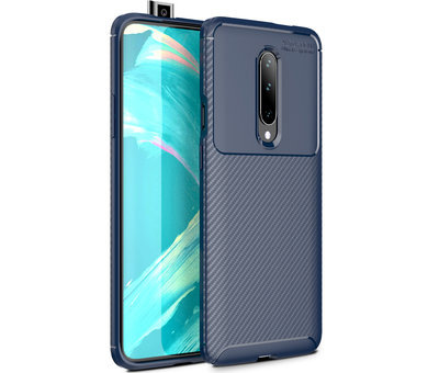 OPPRO OnePlus 7 Pro Case Carbon Structure Blue