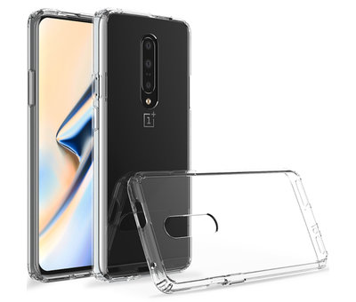 OPPRO OnePlus 7 Pro Hoesje Bumper TPU Transparant