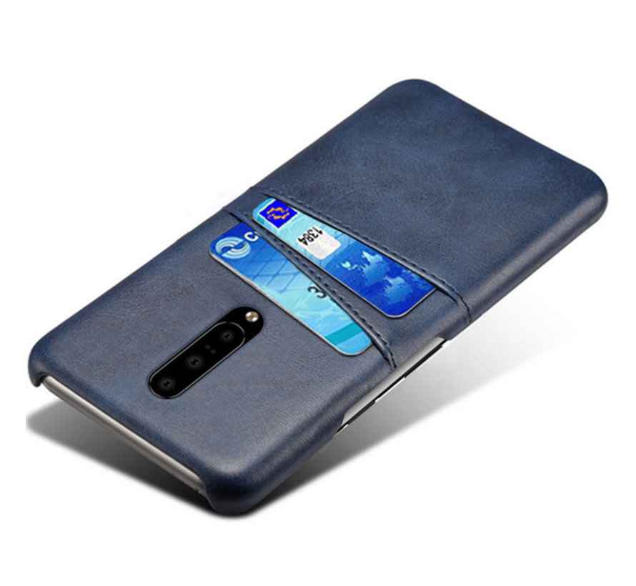 OnePlus 7 Pro Case Slim Leather Card Holder Blue