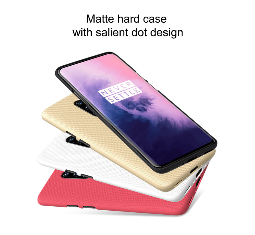 OnePlus 7 Pro Hoesje Frosted Shield Goud