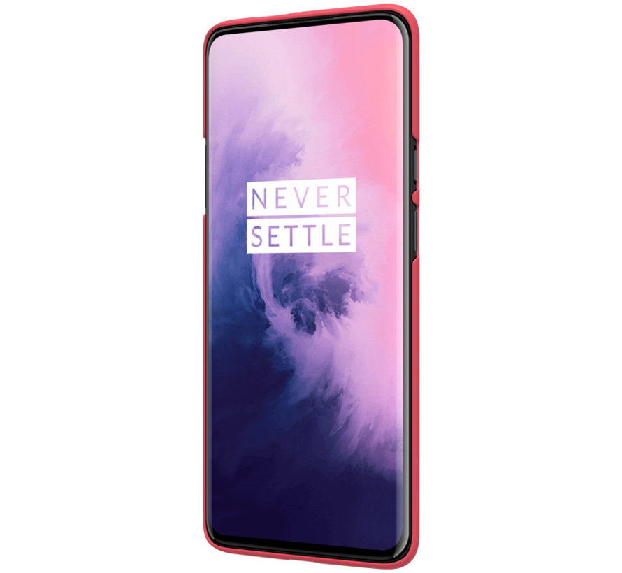 OnePlus 7 Pro Hoesje Frosted Shield Rood