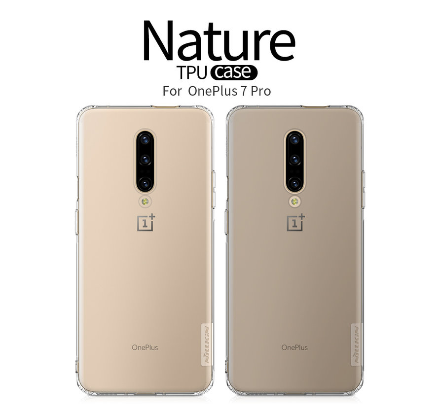 OnePlus 7 Pro Case TPU Nature Transparent Gray