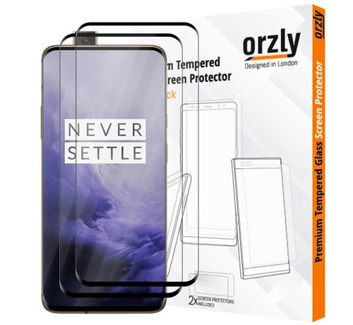 Orzly OnePlus 7 Pro Screen Protector 3D Tempered Glass 2-Pack