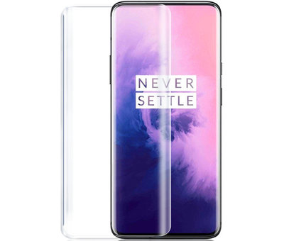 OPPRO OnePlus 7 Pro Hoesje Brushed Carbon Rood