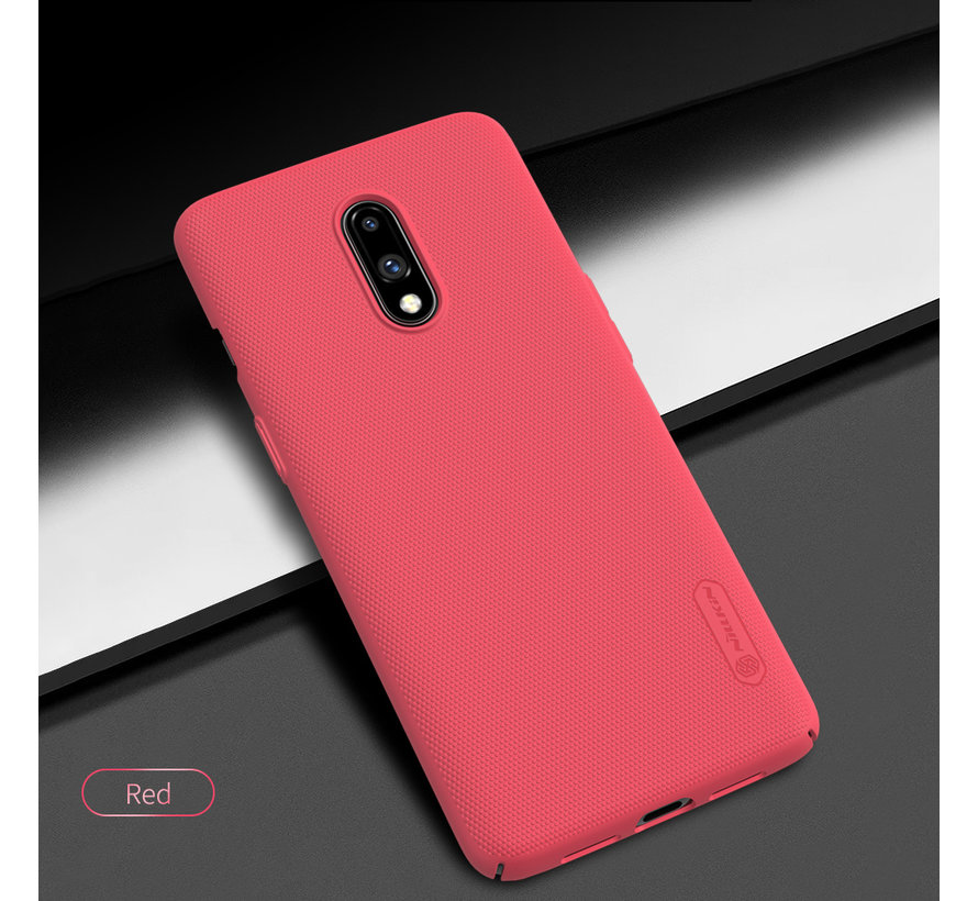 OnePlus 7 Hoesje Frosted Shield Rood