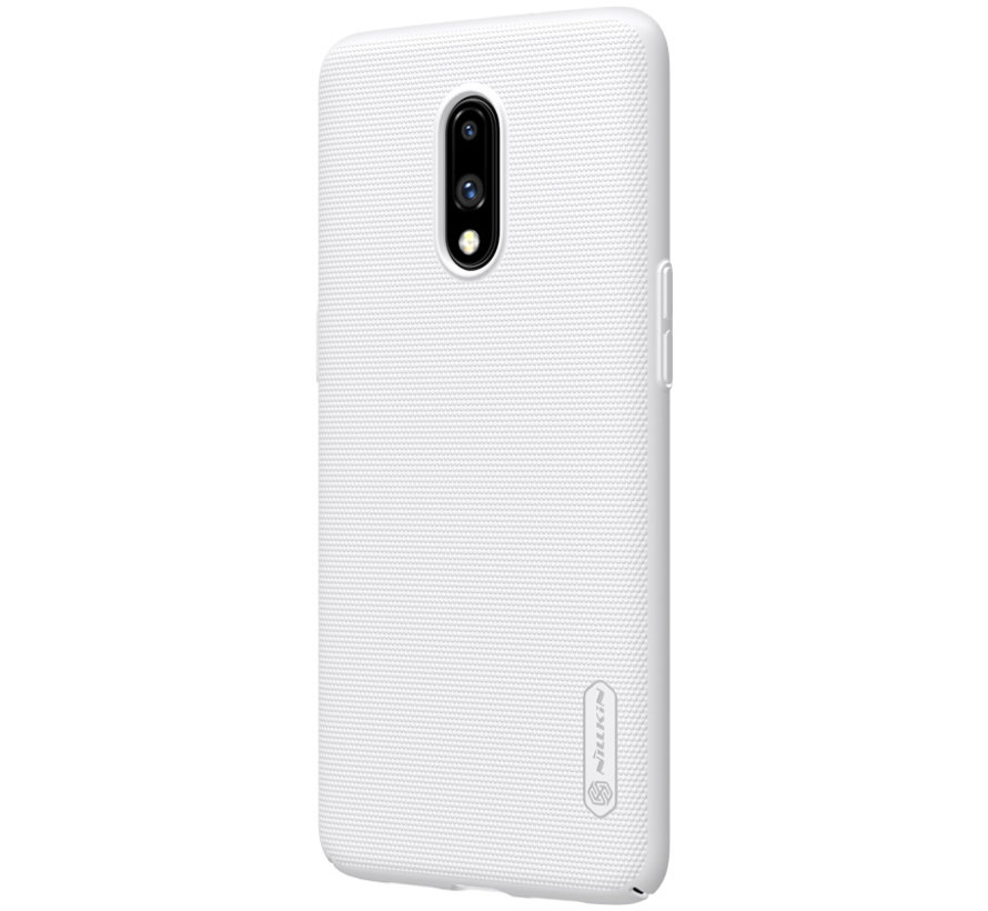 OnePlus 7 Hoesje Frosted Shield Wit
