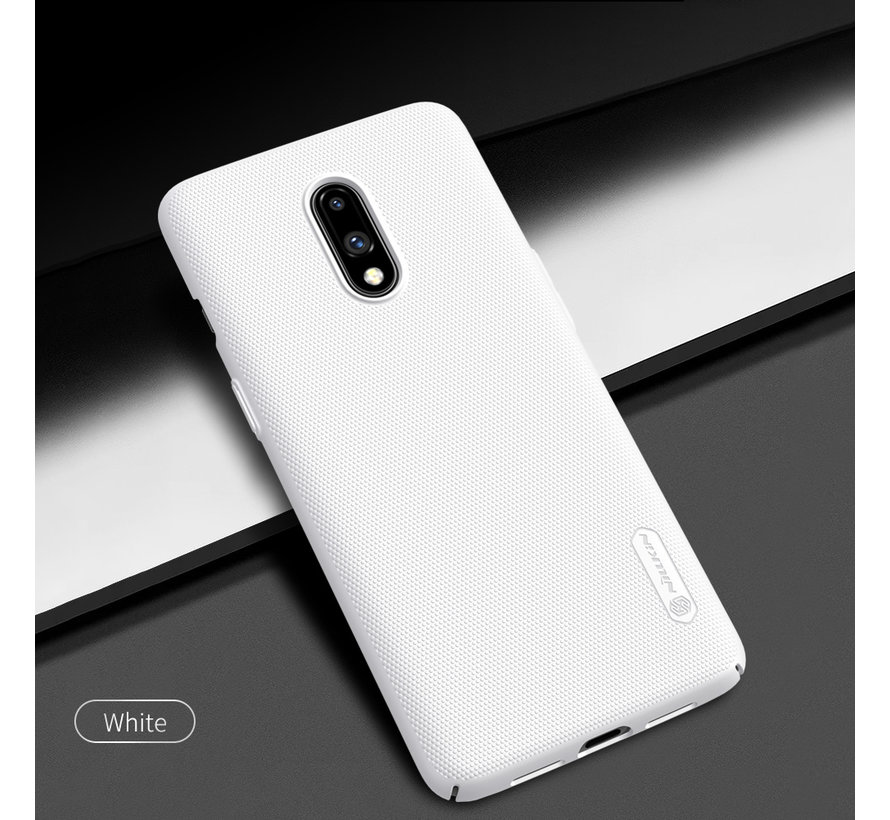 OnePlus 7 Hoesje Frosted Shield Wit