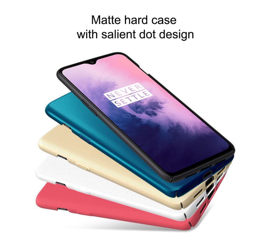 OnePlus 7 Case Frosted Shield Weiß