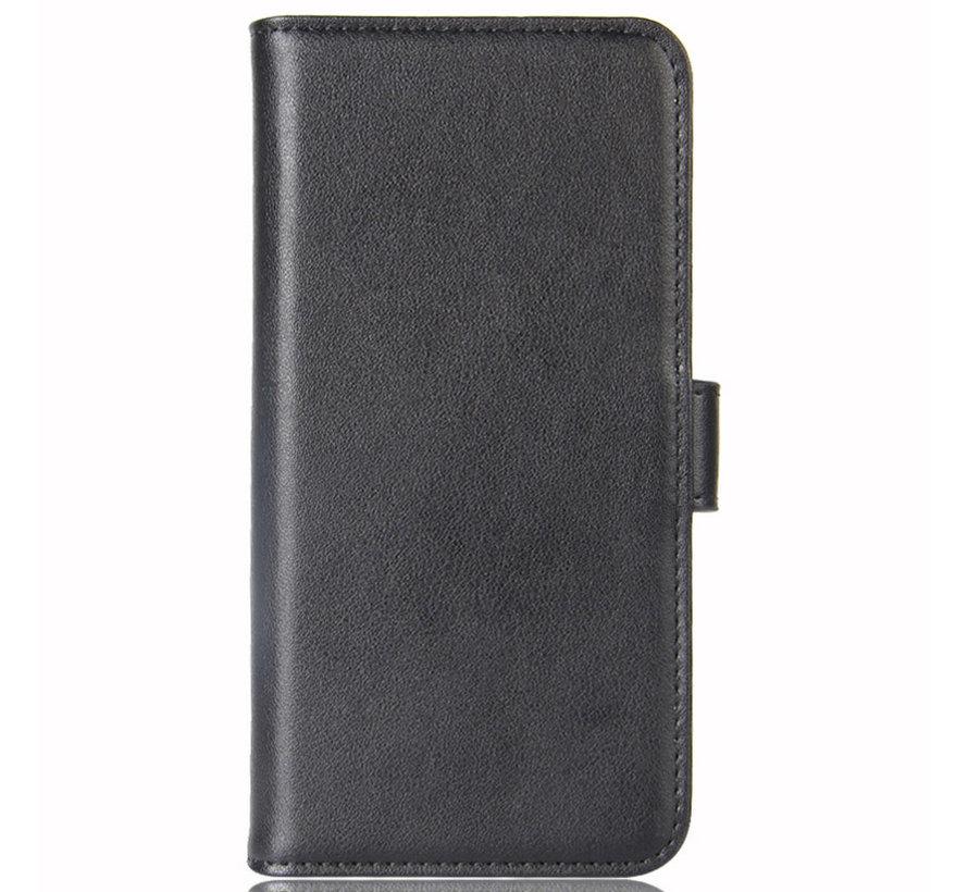 OnePlus 7 Wallet Hoesje Echt Leder Zwart