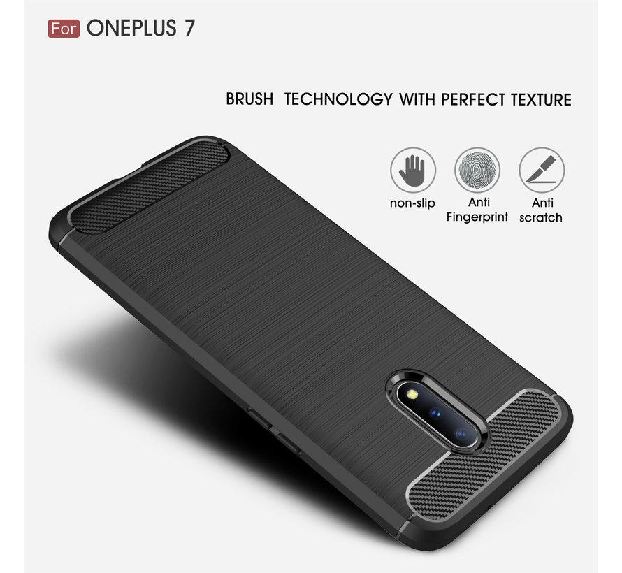 OnePlus 7 Gehäuse in gebürstetem Carbonrot