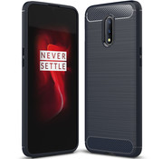 OPPRO OnePlus 7 Case Brushed Carbon Blue