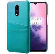 OPPRO OnePlus 7 Case Slim Leather Card Holder Sea Green