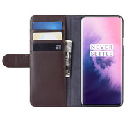 OPPRO OnePlus 7 Pro Wallet Case Genuine Leather Brown