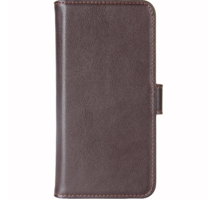 OnePlus 6T Wallet Case Echtes Leder Braun
