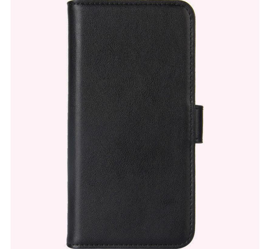 OnePlus 6T Wallet Hoesje Echt Leder Zwart