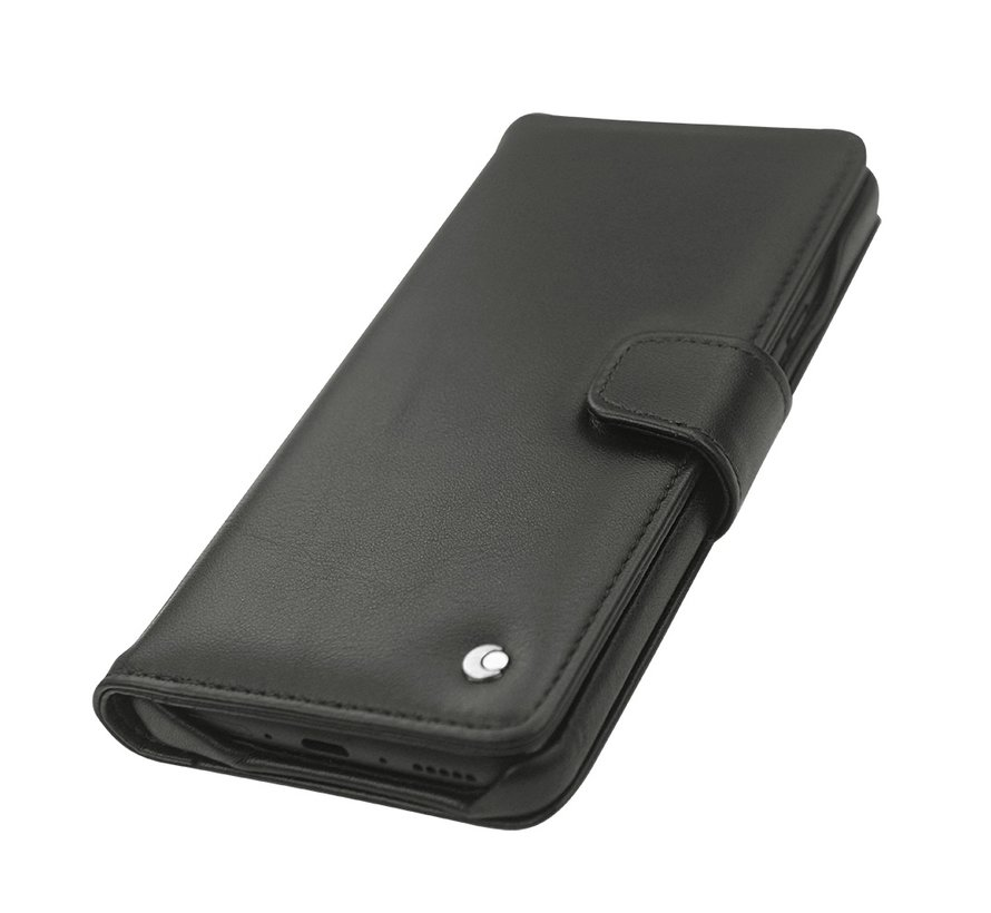 OnePlus 7 Pro Wallet Case Genuine Leather Black