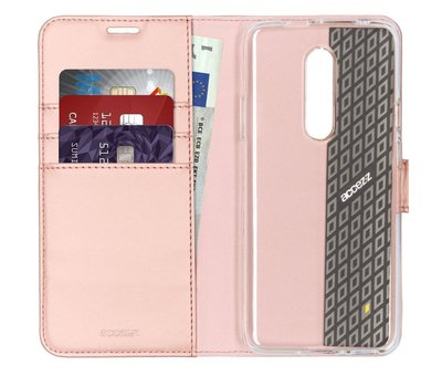 Accezz OnePlus 7 Pro Wallet Case Rose Gold