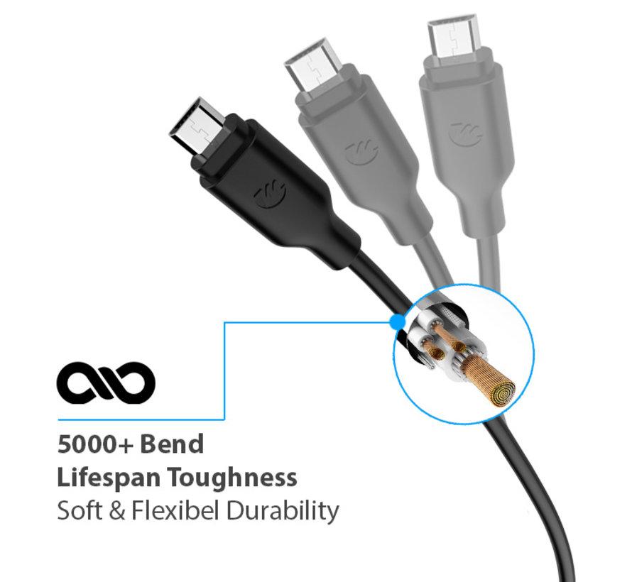 Micro USB 2.0 Kabel 2m schwarz