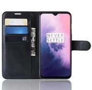 OPPRO OnePlus 7 Wallet Flip Case Schwarz