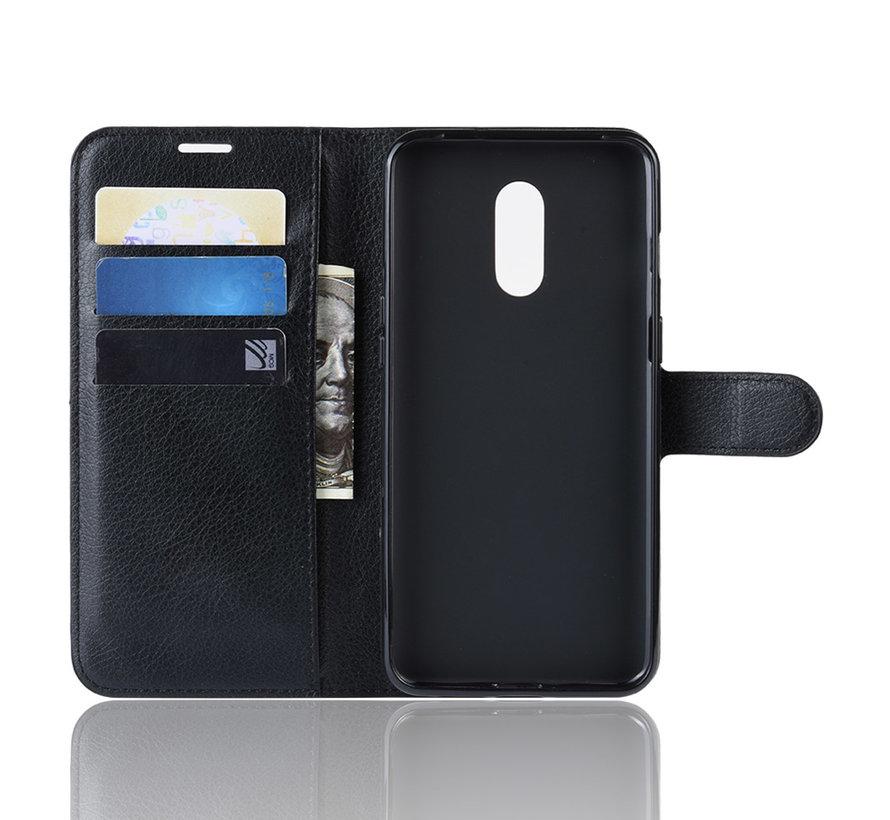 OnePlus 7 Hoesje Wallet Flip Case Zwart