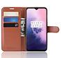 OnePlus 7 Hoesje Wallet Flip Case Bruin
