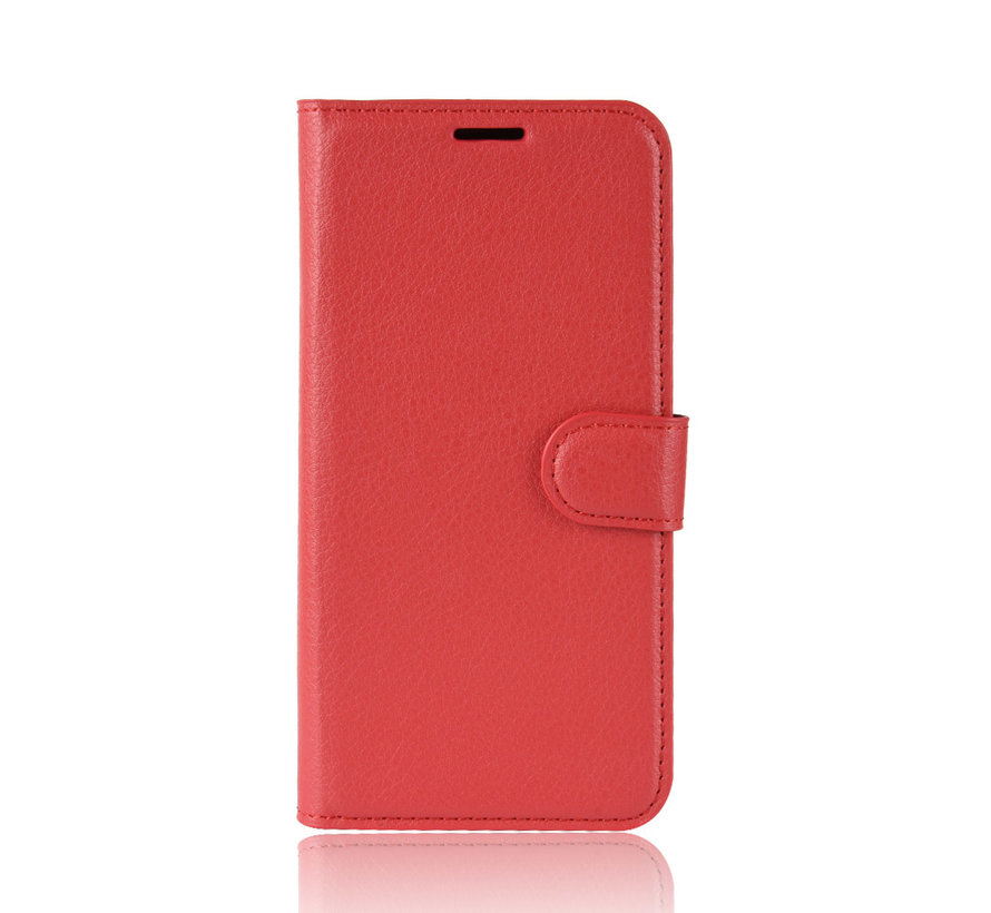 OnePlus 7 Hoesje Wallet Flip Case Rood