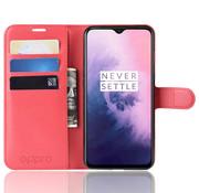 OPPRO OnePlus 7 Wallet Flip Case Rot