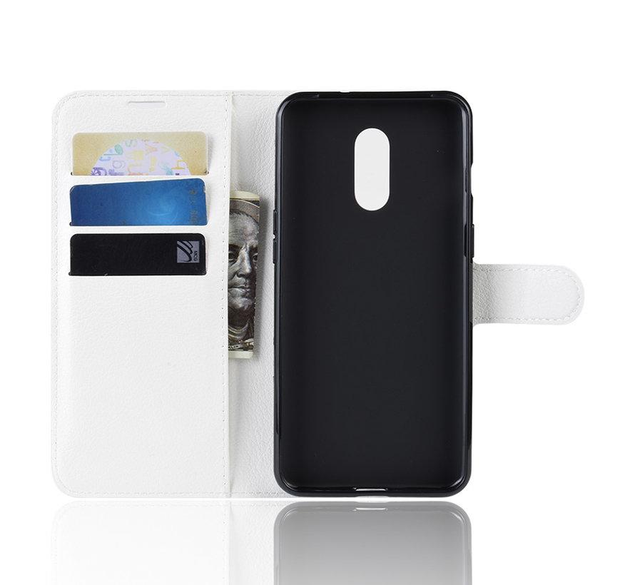 OnePlus 7 Wallet Flip Case Weiß
