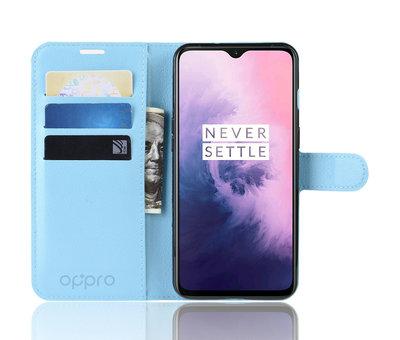 OPPRO OnePlus 7 Hoesje Wallet Flip Case Blauw