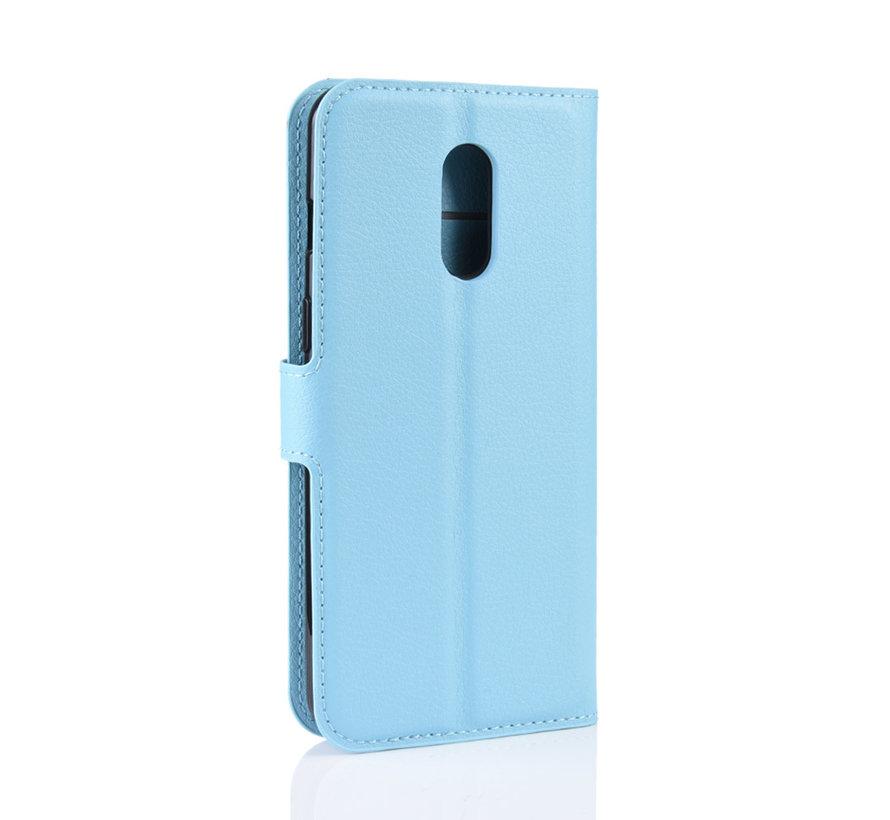 OnePlus 7 Wallet Flip Case Blaue Schutzhülle