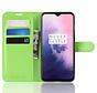 OnePlus 7 Hoesje Wallet Flip Case Groen